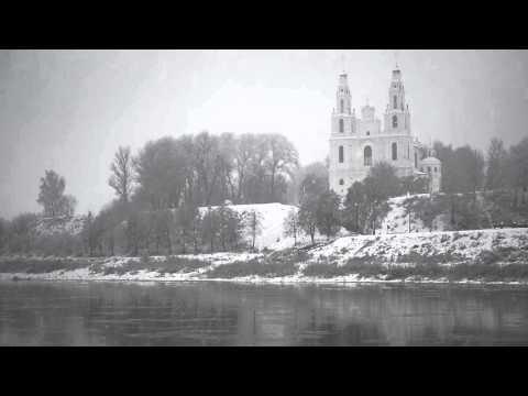 Софийский Собор в Полоцке.  Зима.  Идёт снег.