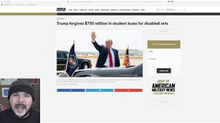 Trump Forgives Student Loan Debt For Disabled Veterans, This Was 100% The Right move