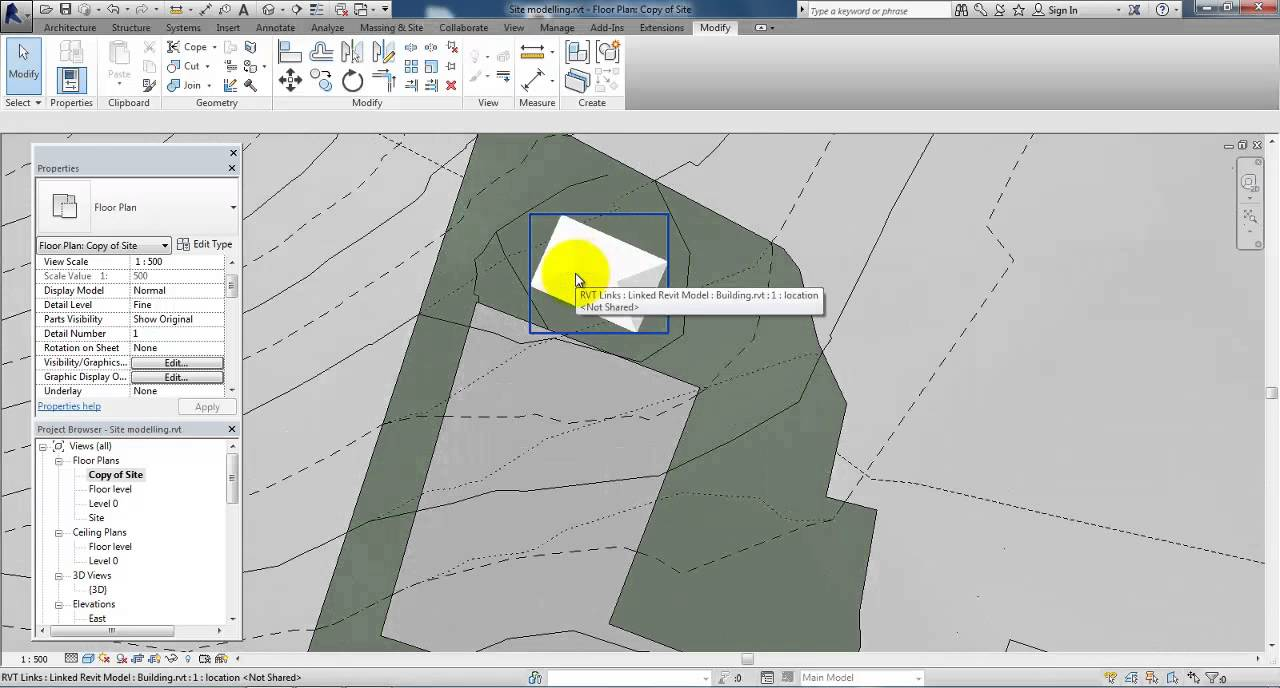 Revit 2014 setup a site plan youtube for How to plan a website