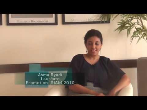 Témoignage Asma Ryadi, Lauréate ISIAM - Business School