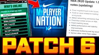 NBA 2K20 PATCH 6 - NEW MYPLAYER NATION MODE, DAILY SPINS, DASHBOARDING FIXES & MORE PATCH NOTES