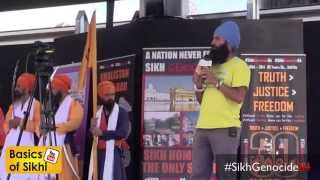 Real Talk - We need a UK Takht! Trafalgar Square 2014 #SikhGenocide84
