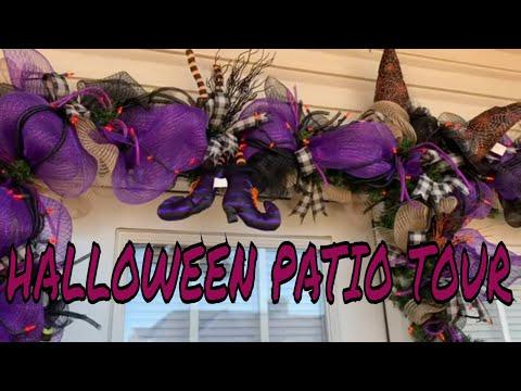 Halloween Patio Tour | Halloween Decorating | Halloween Tour | Outdoor Halloween Decor | Patio Tour