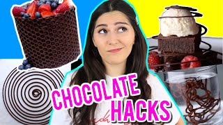TESTING VIRAL CHOCOLATE FOOD TRICKS THAT WILL SPEED UP YOUR COOKING