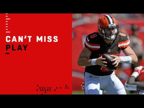 Baker Mayfield rebounds from pick to run in TD for Cleveland Browns