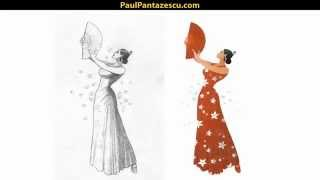 Steps of Creating a Vector Character (Flamenco Dancer) - Tutorial