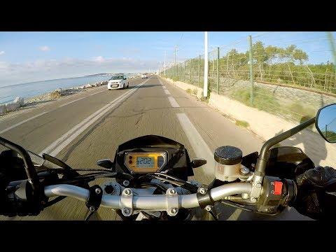 KTM 950 SM | I Love Going To Work | 200 km/h | Akrapovi Sound