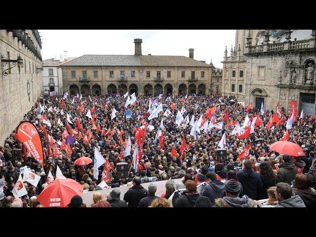 Manifestación en defensa da sanidade pública. (Compostela, 4/2/18)
