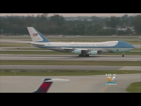 President Trump Returns To Washington After Florida Break