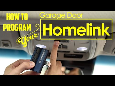 HOW TO: Program Universal Home Remote aka HomeLink garage door opener in your vehicle.