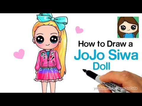 How To Draw A Jojo Siwa Doll Youtube