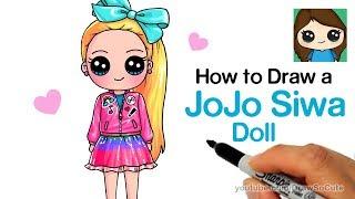 Wie zeichnet man einen JoJo Siwa Doll