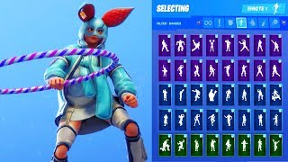FLAPJACKIE SKIN SHOWCASE AVEC TOUS LES DANCES FORTNITE - EMOTES
