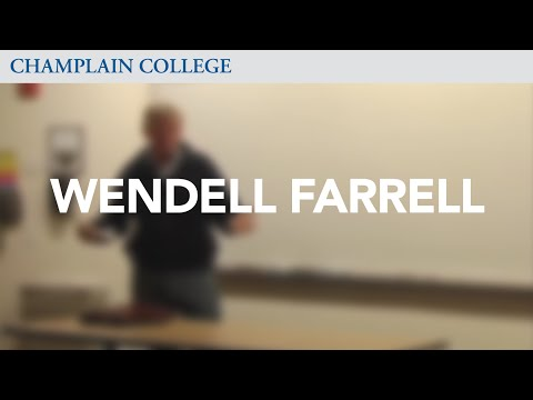 Wendell Farrell: Speaking from Experience