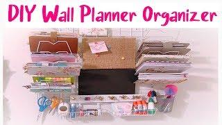 DIY Planner Wall Organizer /made using Dollar Tree Items