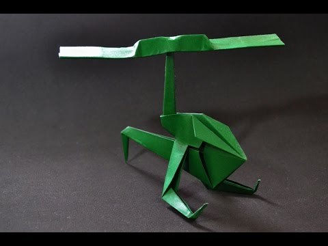 origami helicopter youtube