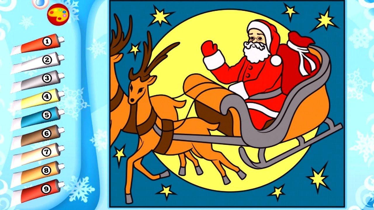 Рождественские раскраски для детей. Игра раскраска - обзор ...