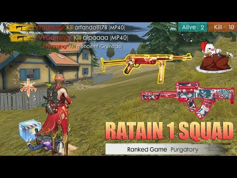 download RATAKAN 1 SQUAD DI AWAL SEASON! RANKED MATCH PURGATORY MAP - FREE FIRE INDONESIA