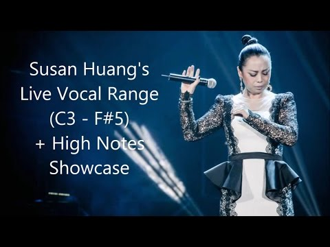 Sophia/Susan Huang (黄绮珊), China's Soul Diva - Live Vocal Range (C3 - F#6)