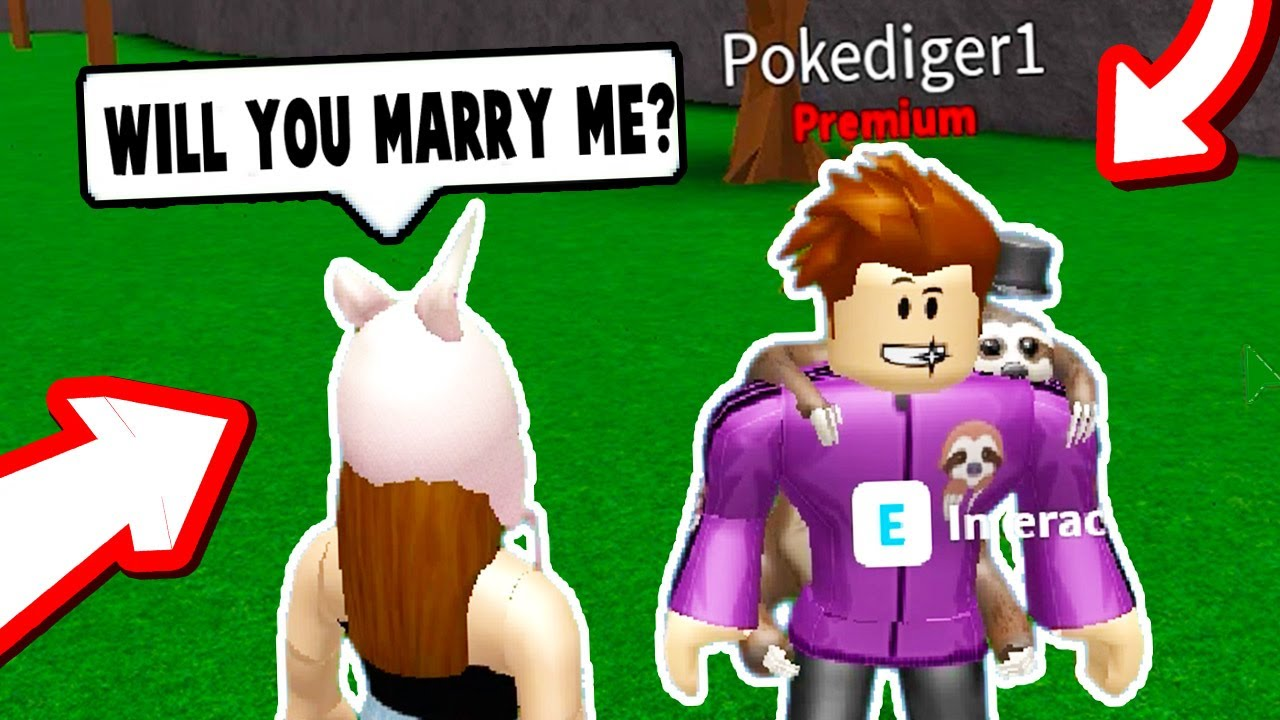 Asking Poke To Marry Me Roblox Bloxburg Roblox Funny Moments