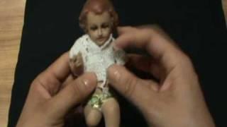 Repeat youtube video 3 DE 9 COMO TEJER VESTIDO ROPON NIÑO DIOS PUNTO ESPUMA DE MAR, SALOMON, GANCHILLO CROCHET