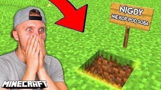 Dlaczego WARTO KOPAĆ POD SOBĄ w Minecraft? *SZOK*