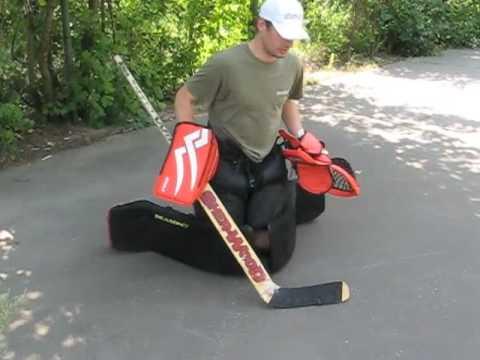 Street Hockey And Inline Hockey Sliding Reasony Goalie Pads Youtube