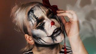 halloween the sad clown makeup tutorial