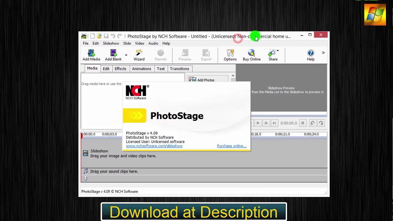 Nch photostage slideshow producer 4. 09 + crack (2017) updated.