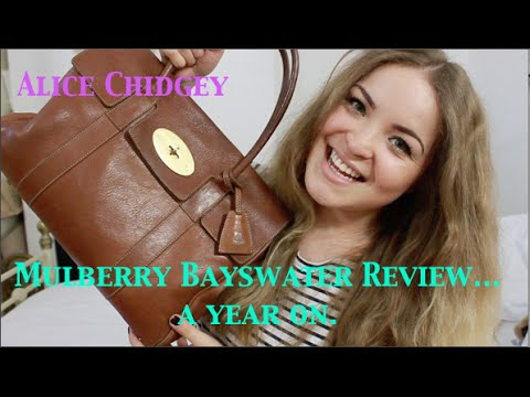Mulberry Bayswater Review- A Year On & What's in my Bag | Alicechidgey