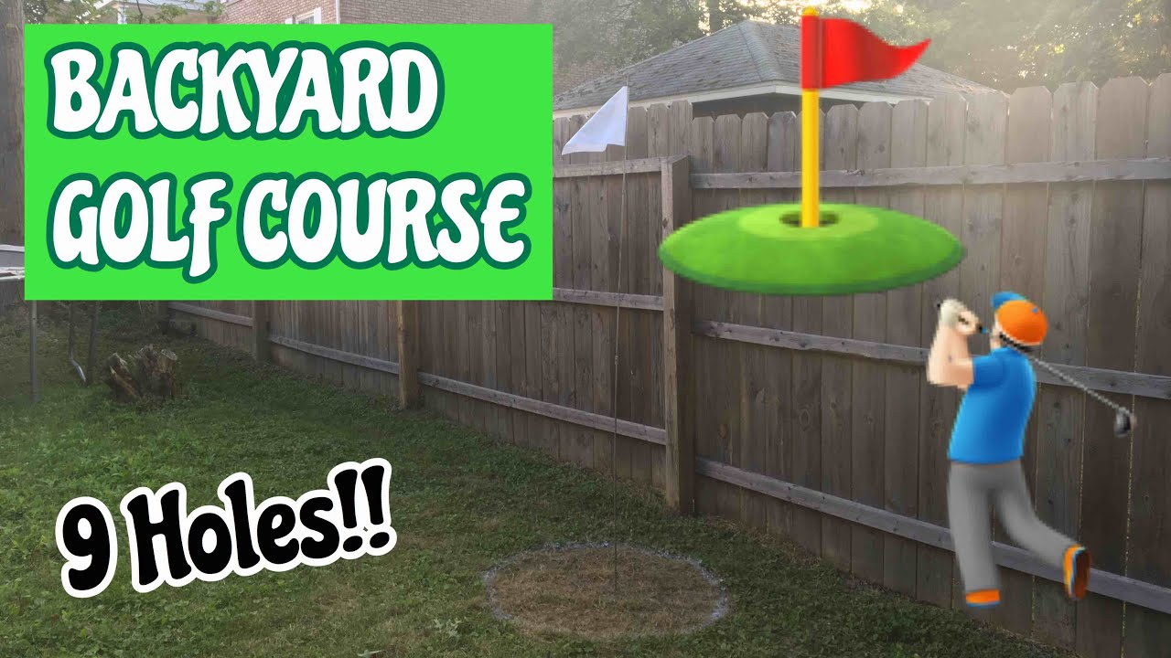 9 HOLE BACKYARD MINI GOLF COURSE (DIY HOW TO MAKE YOUR OWN ...