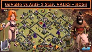 MAX TH9 GoVaHo attack vs ANTI- 3 STAR base. Valks + HOGS. Clash of Clans
