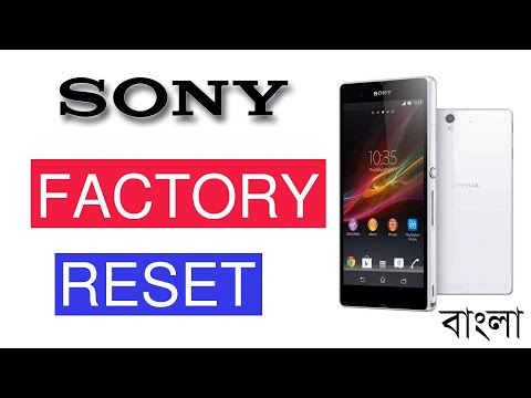 How To Factory Reset SONY Xperia Z Or Z1