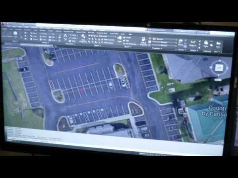 ACAD Site Plan Block Out from an Aerial photo.