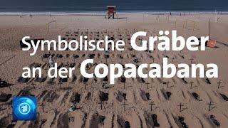 Corona-proteste In Brasilien: Gräber Am Strand