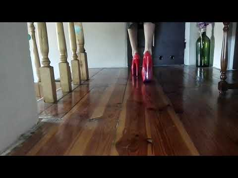 Fetish LadyIVe walks in red hot high heels