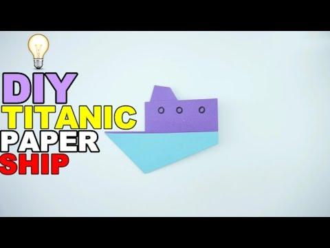 DIY TITANIC PAPER SHIP - Make Craft