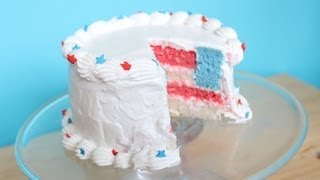 How to Make a Mini Fourth of July Surprise Cake!