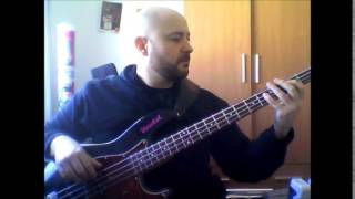 "Stevie Ray Vaughan ""Love Struck Baby"" bass cover."