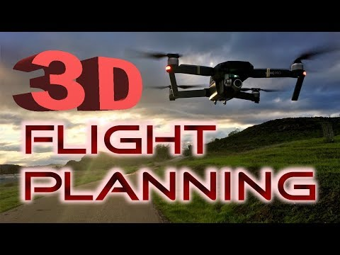 3D Drone Flight Planning - DJI Mavic Pro/Platinum Phantom Inspire