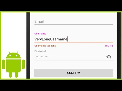 TextInputLayout (Floating Label EditText) - Android Studio Tutorial