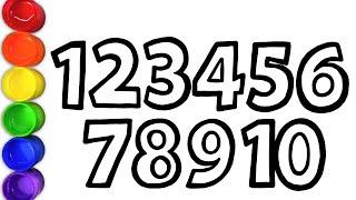 Bé Học Số 1 10 Vẽ và Tô màu Chữ Số