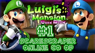 Luigi's Mansion Dark Moon - (1080p) Online Co-Op Scarescraper - Part 1