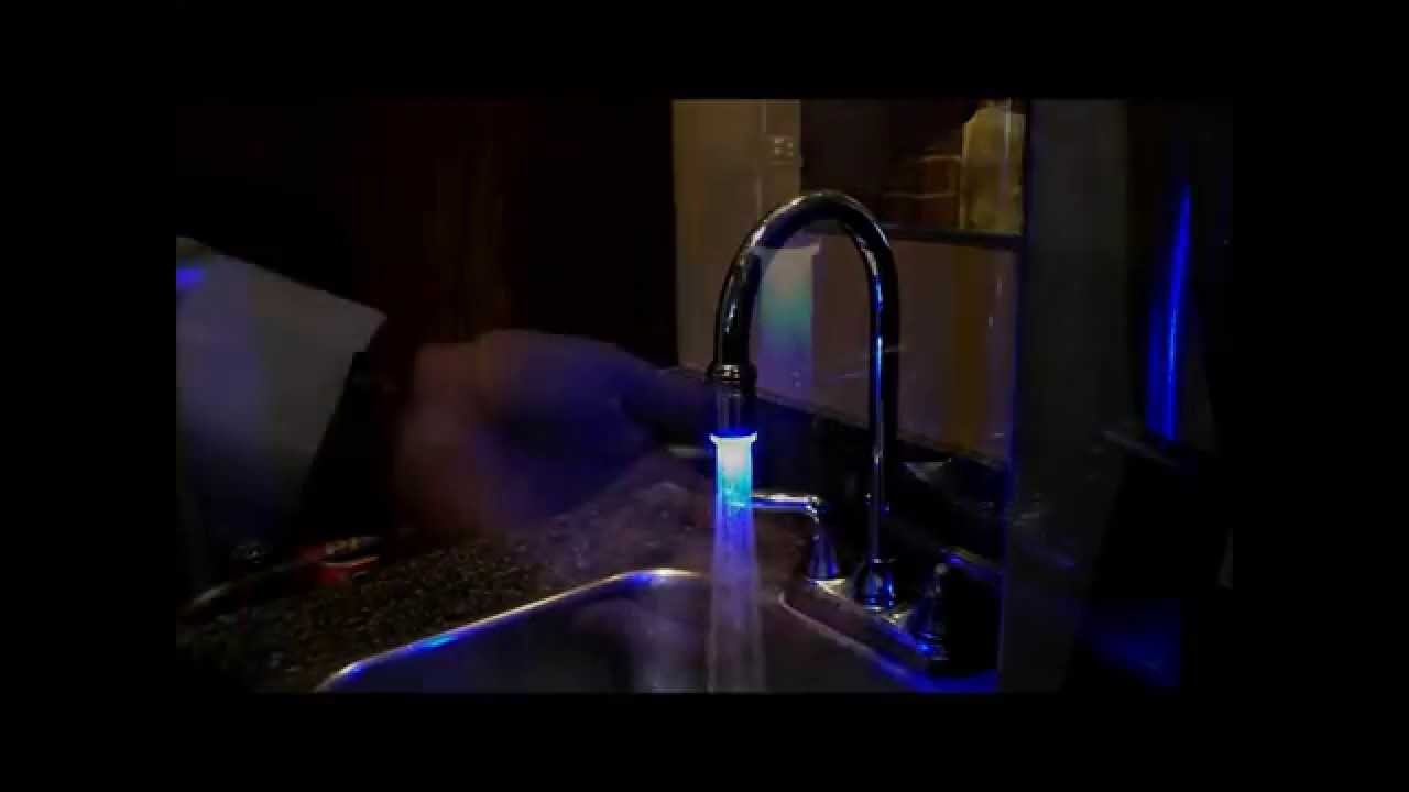 Self Powered LED aerator for existing Faucet - YouTube