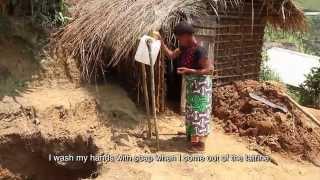 Giving drinking water to returnees in Mwenga, South Kivu, DRC