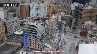 Aftermath of deadly Hard Rock Hotel collapse