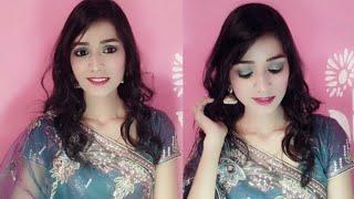 Saree Makeup Look|| Easy Wedding, reception, sangeet Makeup Look||
