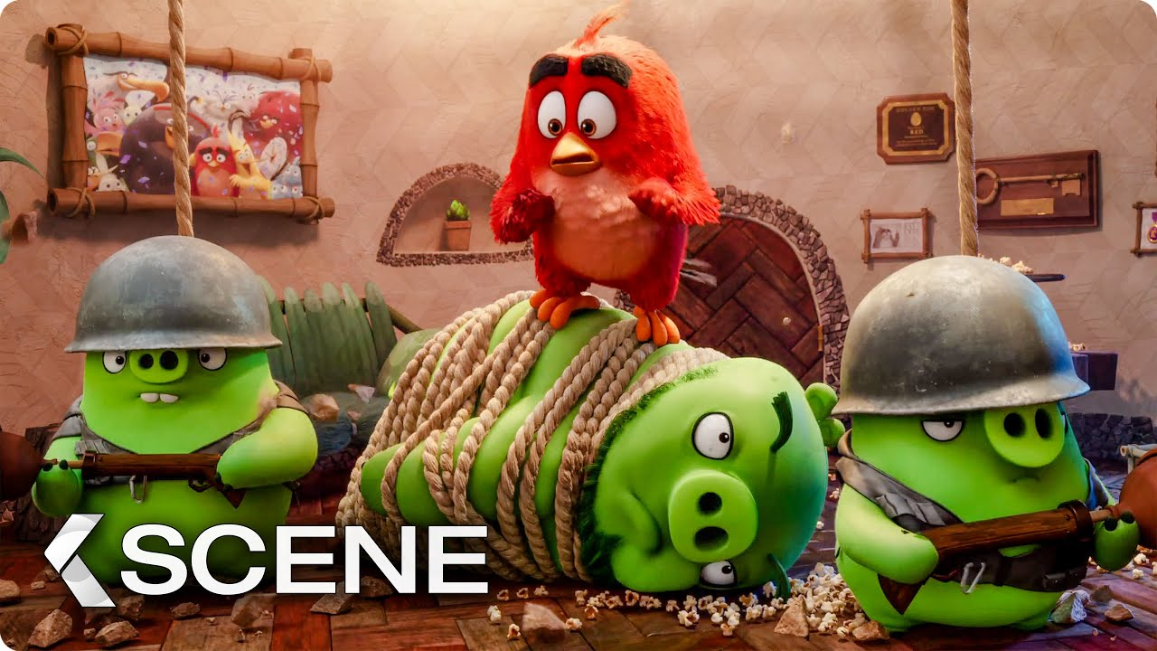 The Pigs Invade Red's Home Scene - THE ANGRY BIRDS MOVIE 2 (2019)