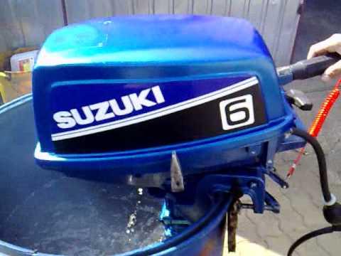Suzuki 6 Hp Outboard Motor 1997r 2 Stroke Dwusuw Youtube