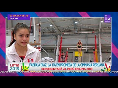 Fabiola Díaz, la joven promesa de la gimnasia peruana - Lima 2019